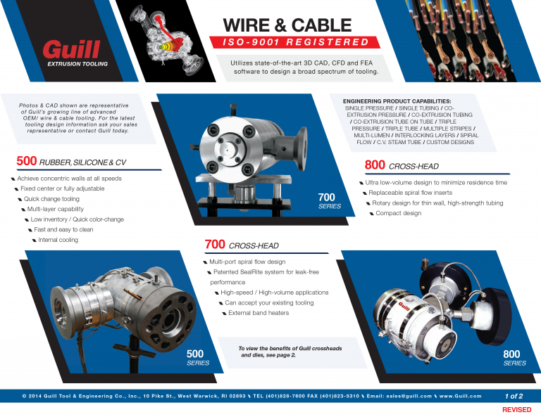 Guill's Wire and Cable Industry Sales Sheet
