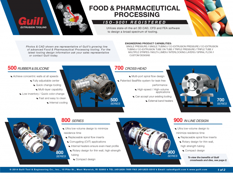 Guill's Food and Pharmacutical Industry Sales Sheet