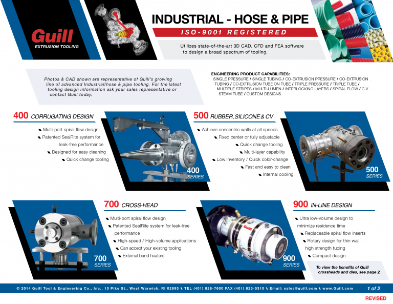 Guill's Industries Sales Sheets