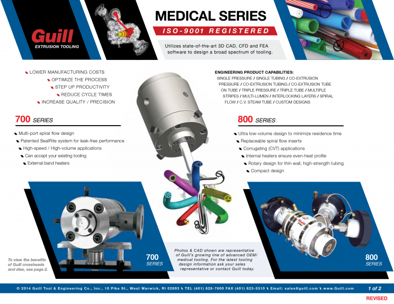 Guill's Medical Industry Sales Sheet