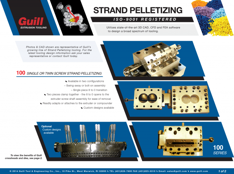 Guill's Strand Pellitizing Industry Sales Sheet
