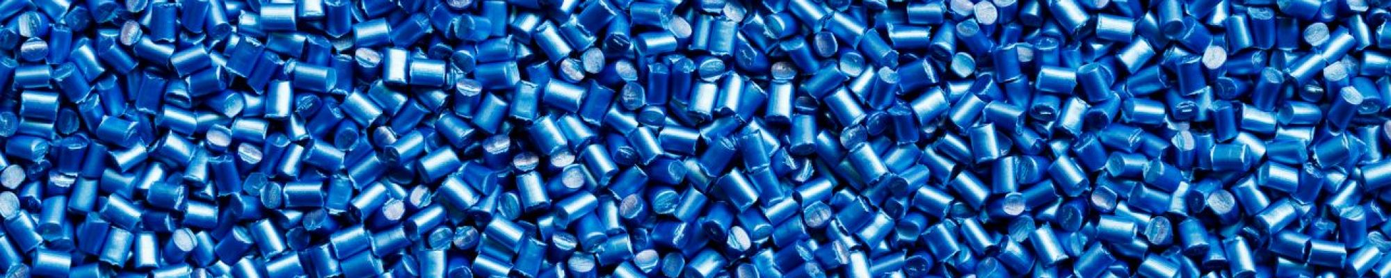 blue plastic resin ( Masterbatch ) for background